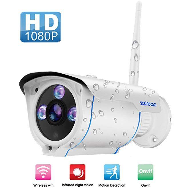 Wifi Camera Outdoor Szsinocam Wireless Security Camera Waterproof Surveillance Home Security Systems Wireless Security Cameras Wireless Home Security Systems