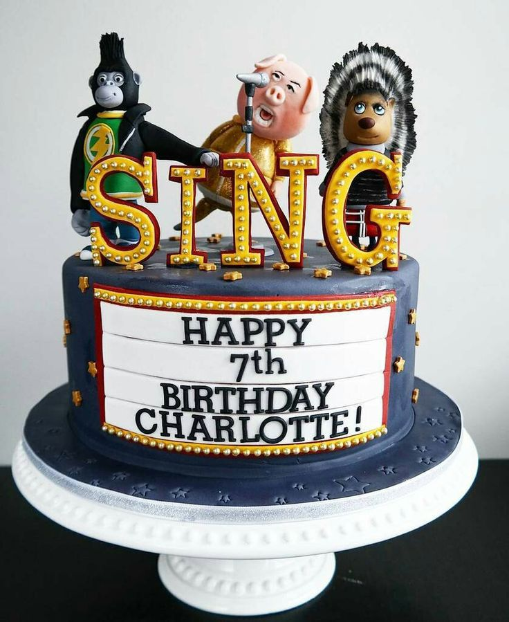 I Should have this amazing SING birthday cake make sure you watch th is awesome movie
