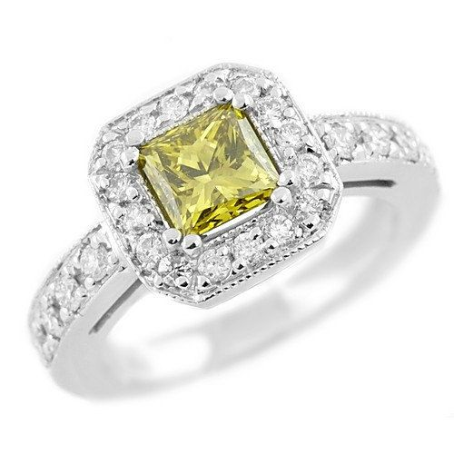 1.77 Carat VS1 Princess Fancy Canary Yellow by JewelryPoint