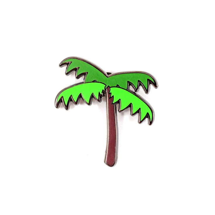 Palm Tree Emoji Pin