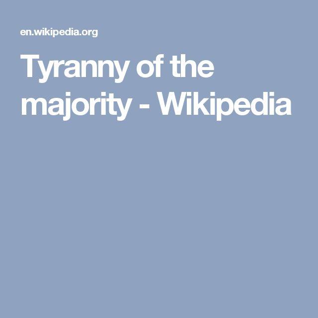 Tyranny of the majority - Wikipedia