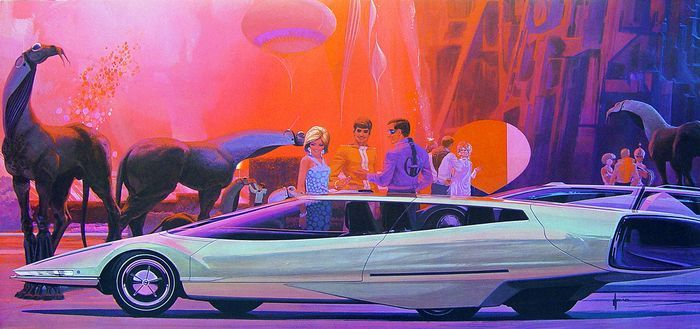 Four-Links  missing Cadillac concept car, life-size Tonka truck, Tonka truck museum, Syd Mead 80th