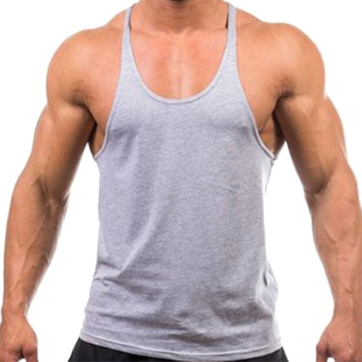 Men Tank Top Solid Mens Muscle Sleeveless T Shirts Stringers Tee Fit Elastic Singlets Undershirt Cotton Tops Workout tracksuits