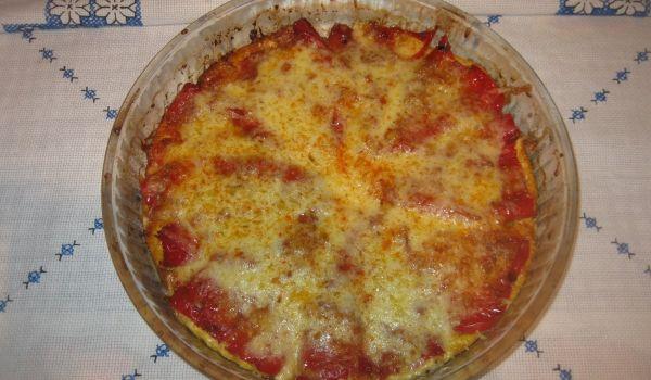 Чушки бюрек на фурна със сирене и кашкавал - Рецепта за Чушки бюрек на фурна със сирене и кашкавал