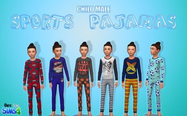 Onyx Sims: Sports Pajamas • Sims 4 Downloads  Check more at http://sims4downloads.net/onyx-sims-sports-pajamas/