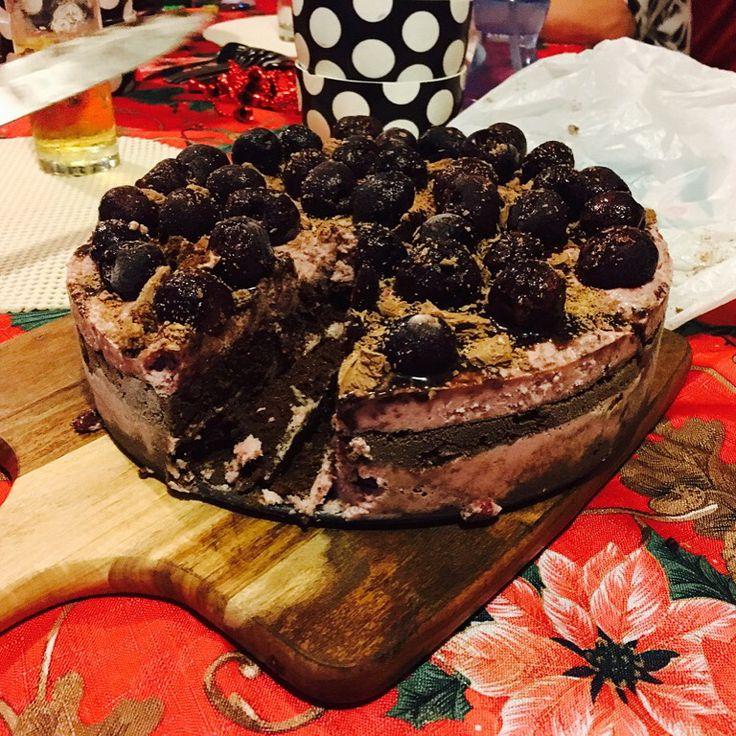 Choc cherry ripple icecream cake YUM!