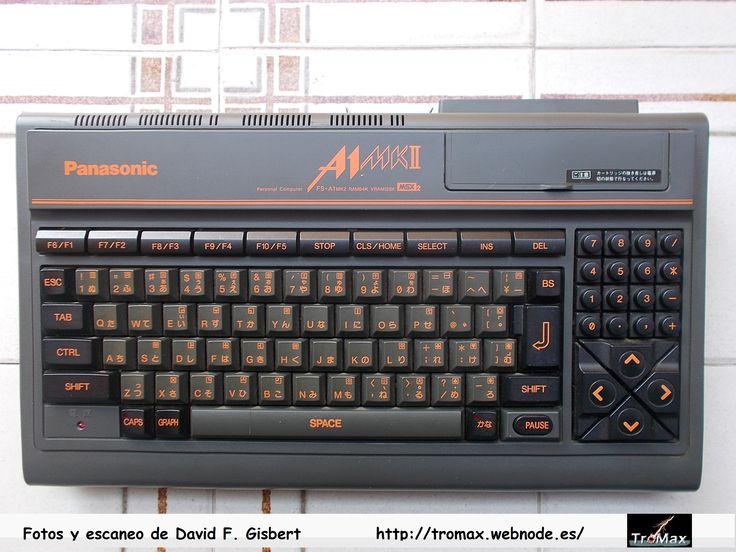 MSX-2 Panasonic A1-MKII, Fotos y propietario David F. Gisbert (Tromax) Usuario informatico de Amiga, MSX, coleccionista de microordenadores y videoconsolas