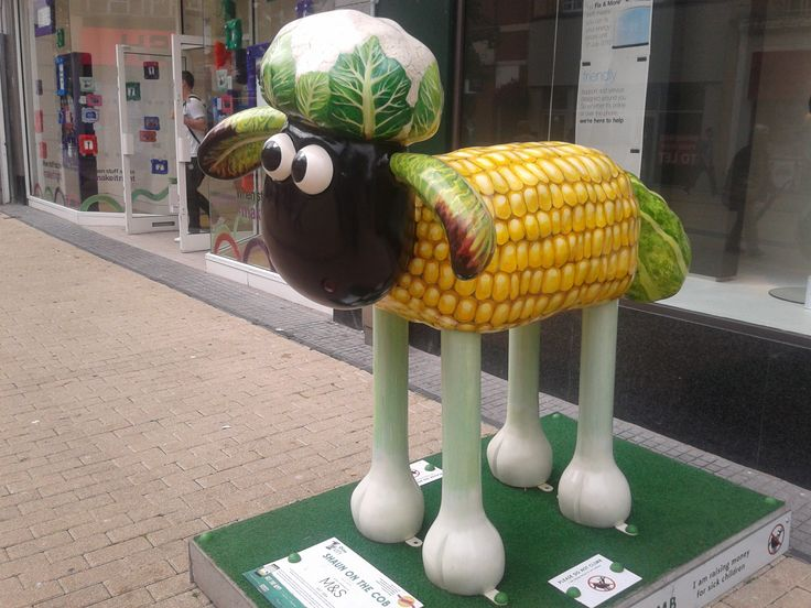 Shaun in the City Bristol - Shaun on the Cob can be seen outside Marks & Spencers in Broadmead
