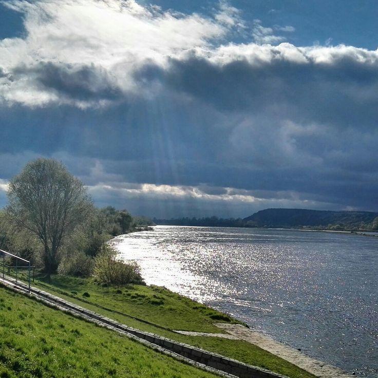 #kazimierzdolny #landscape #river #Wisła #beautiful #clouds #pensjonateger #egerguesthouse #egerkazimierz #travel #poland