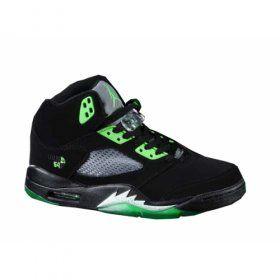 Nike Air Jordans 5(V) Black Green $84.00 http://www.jordanpatros.com