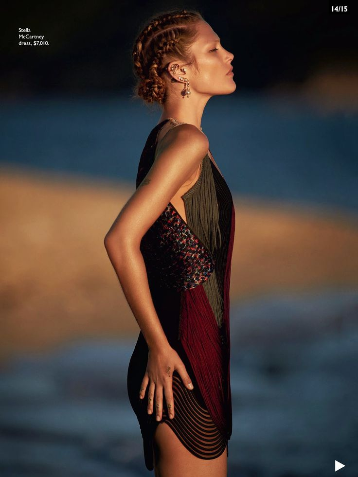 Catherine McNeil by Gilles Bensimon for Vogue AU