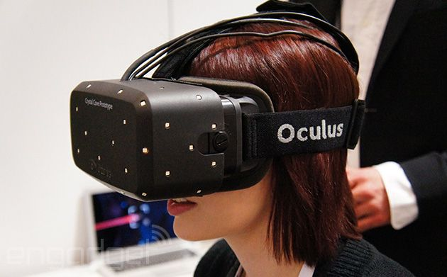 The Oculus Rift 'Crystal Cove' prototype. Replace TV monitors through virtual reality http://www.oculusvr.com/