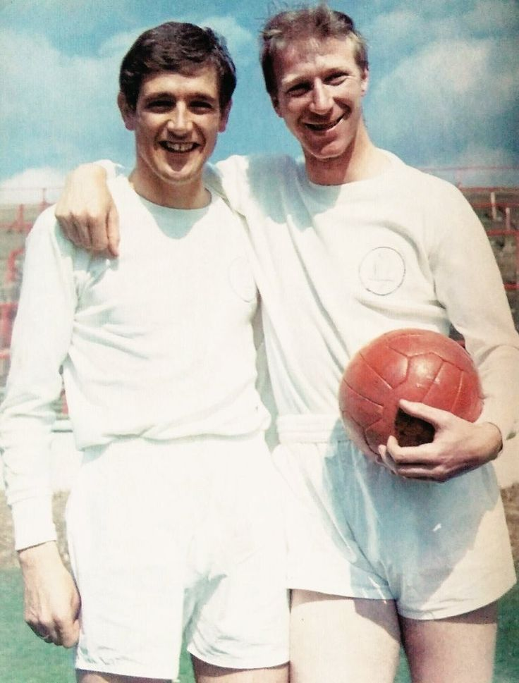 July 1967. Defensive partnership Norman Hunter and Jack Charlton.
