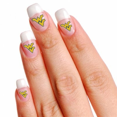West Virginia Mountaineers 4-Pack Temporary Nail Tattoos