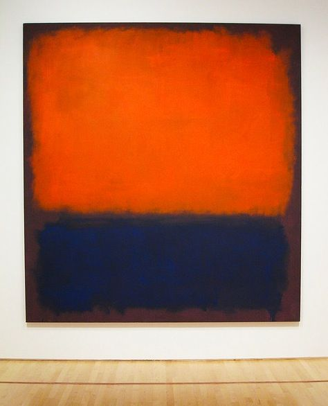 I want to see this piece in person so bad! MARK ROTHKO -My All time favorite