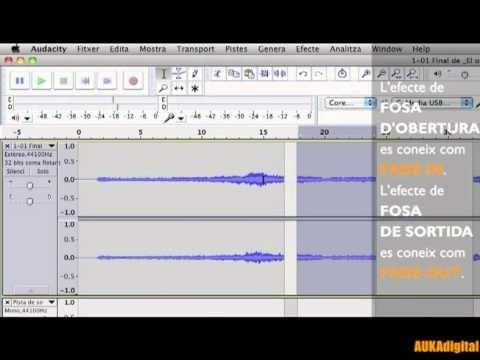 ... AUDACITY: combinar veu i música - fade-in, fade-out. [tutorial_06