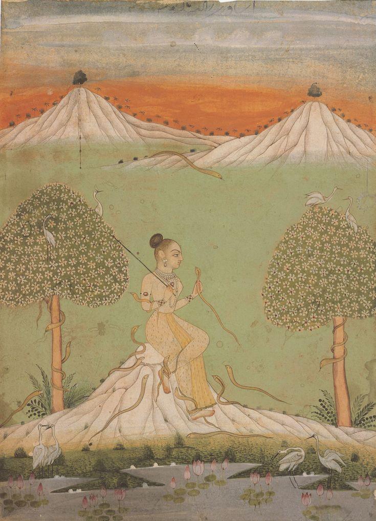 Asavari Ragini, Ragamala painting from Bikaner, Rajasthan, c. 1740–1760