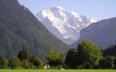 Ίντερλακεν - Άποψη του Jungfrau