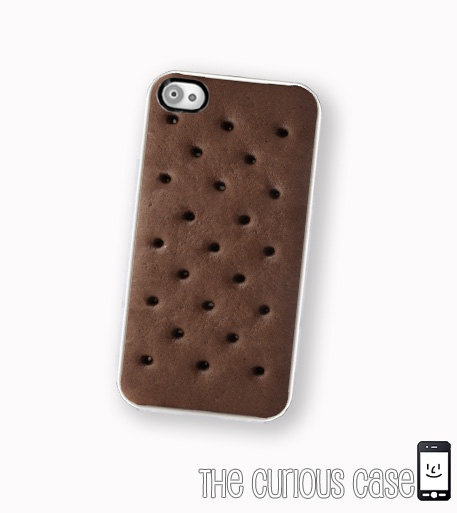 ha! i couldn't do this because i would want ice cream too much!   iPhone Case Ice Cream Sandwich  / Hard Case For iPhone 4 and iPhone 4S Kawaii Summer Time Treat. $17.99, via Etsy.
