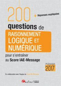 """658.007 SCO """"Pour vous permettre de vous entraîner de manière intensive et efficace, ce livre est tout entier consacré à une seule épreuve : raisonnement logique et numérique. Il contient 200 questions inédites mises au point en collaboration avec l'équipe du Score-IAE-Message et vous fournit les réponses expliquées."""""""