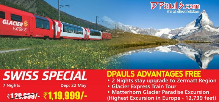 Summer is coming! Welcome it in a grand way! Plan a trip to #Europe for 7 Nights at just Rs. 1,19,999/- p.p. You can not get a better deal with all the package inclusions and added exclusive #DPauls Advantages. Grab your seats now! Call 011 662 11 111.