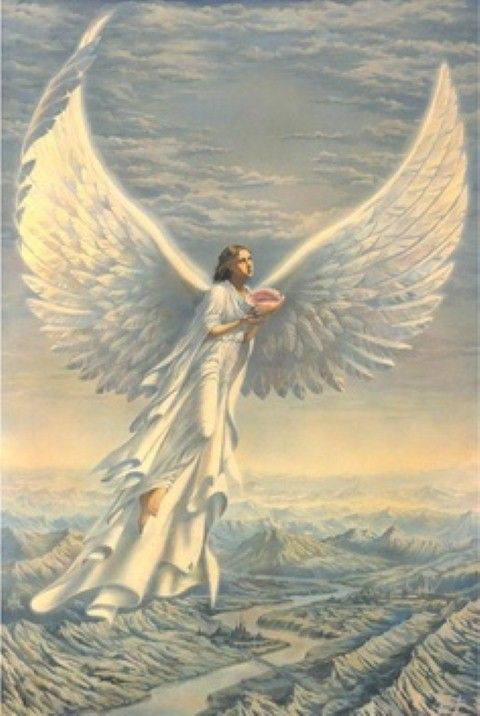 ANGELS~ Angel Of Comfort ~ Pertaining To The Choir Of Angels Which Come Under The Hierarchy Of The Archangel Gabriel. Within A Large Conch, She Carries The Healing Waters Of The Sea. Face West When You Invoke, Preferably On A Moon Day. (Monday) ~•♥•✿ڿڰۣ(̆̃̃.