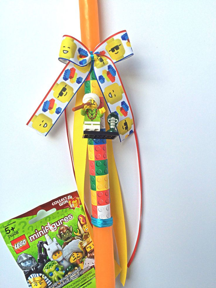 Greek Easter candle Lego lambada boys Easter lambada Anastasi orthodox Easter candle