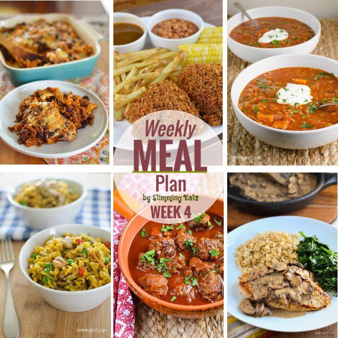 Slimming Eats Weekly Meal Plan (Week 4)