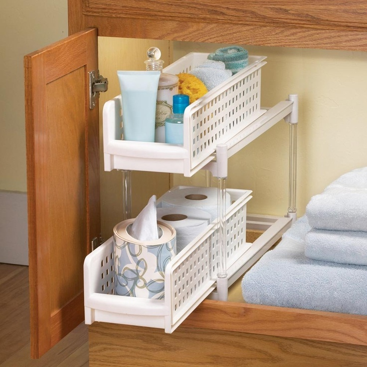 Kitchen & Bathroom Pull-out Drawer Organizers
