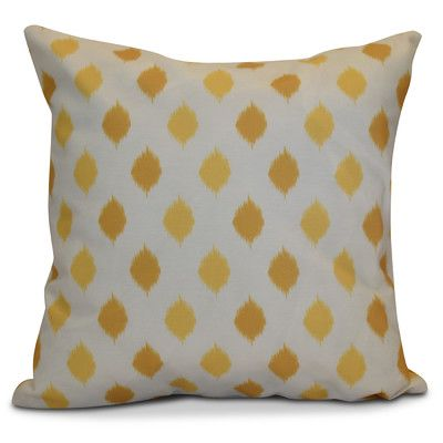 "The Holiday Aisle Hanukkah 2016 Decorative Holiday Geometric Throw Pillow Color: Yellow, Size: 20"" H x 20"" W x 2"" D"