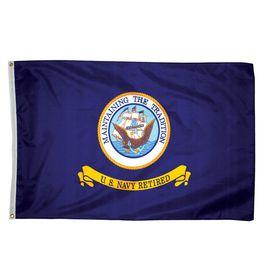 4-Ft W X 3-Ft H Military Navy Flag 7832051