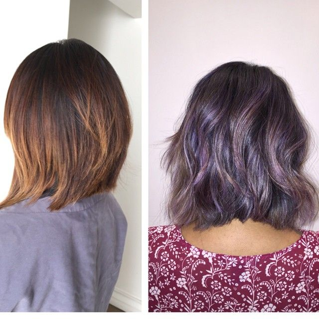 Love these lavender highlights.  Too bad I just decided to go red...