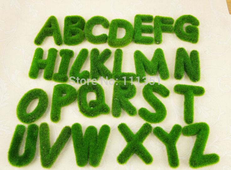 Cheap craft wheel, Buy Quality home robots for sale directly from China craft computer Suppliers: 6pcs 9*7 Artificial Grass Letter Alphabet A-Z Flower Decorative Home Wedding Craft