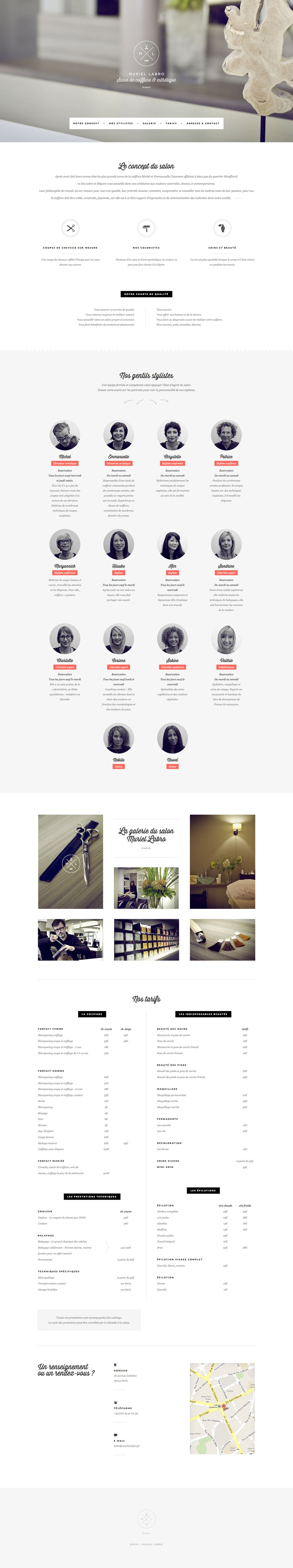 Hi Yasmine - I'll just be pinning possible site design inspirations to your pinboard for you to review. Feel free to comment on anything you like or don't like about each design. I like the layout of information of this site and the one-page functionality but feel like your site would feature bolder colors and more vibrant images.
