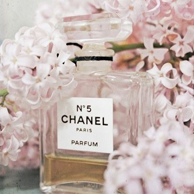 Chanel and pastel flowers