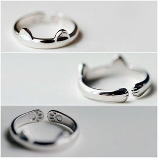 Buy maxine Sterling Silver Cat Ring at YesStyle.com! Quality products at remarkable prices. FREE WORLDWIDE SHIPPING on orders over US$35.