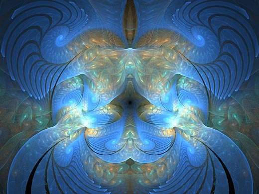 Generated in Apophysis, like most of my favorite fractals. Apophysis is a freeware fractal generator created by Mark Townsend, who says he gives it away for free because he wants to promote the creation of beauty.