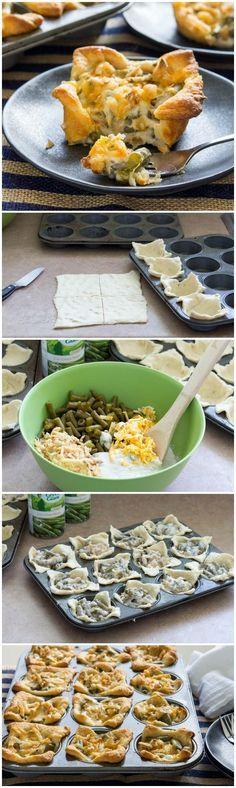Thanksgiving dish makeover: 30-min Green Bean Casserole Crescent Cups!