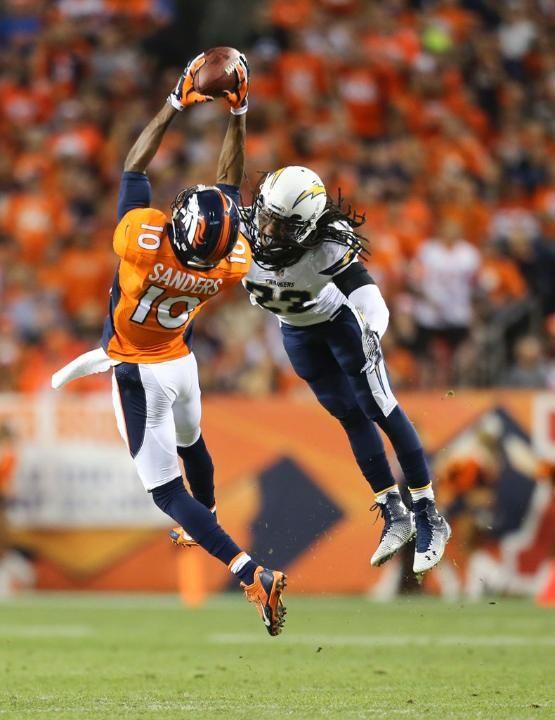 Emmanuel Sanders and Jason Verrett - Broncos vs Chargers (10/23/14)