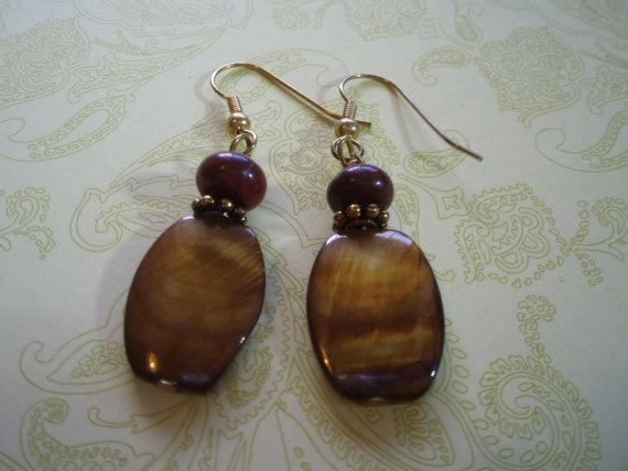 $13 Brown and Maroon Earrings