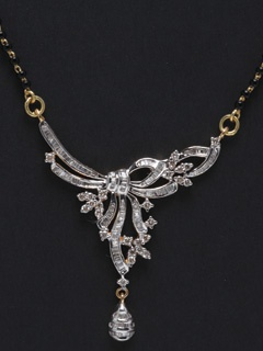 Wear This Charming And Mesmerizing Diamond Mangalsutra To Remember The Best Day In Your Life.