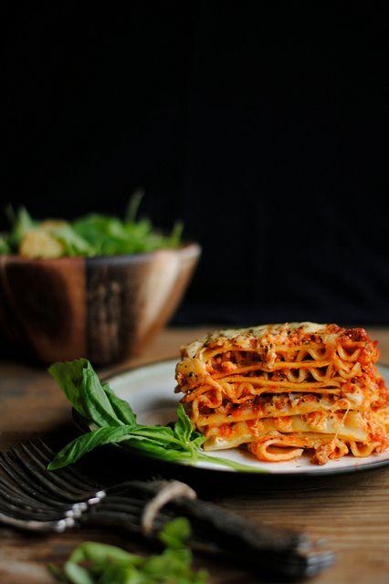 Italian Sausage Lasagne Recipe from How To: Simplify #BarillaLasagne #spon