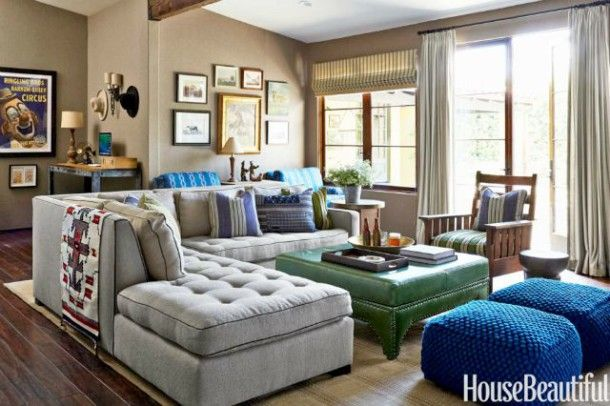 It's ok to use a sectional sofa in a small family room!