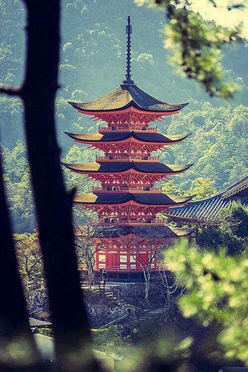 Pagoda Style Temple Japan