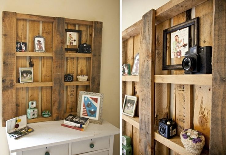 Estante camaras foto gavetero cuadros carpinter a - Cuadros con palets ...