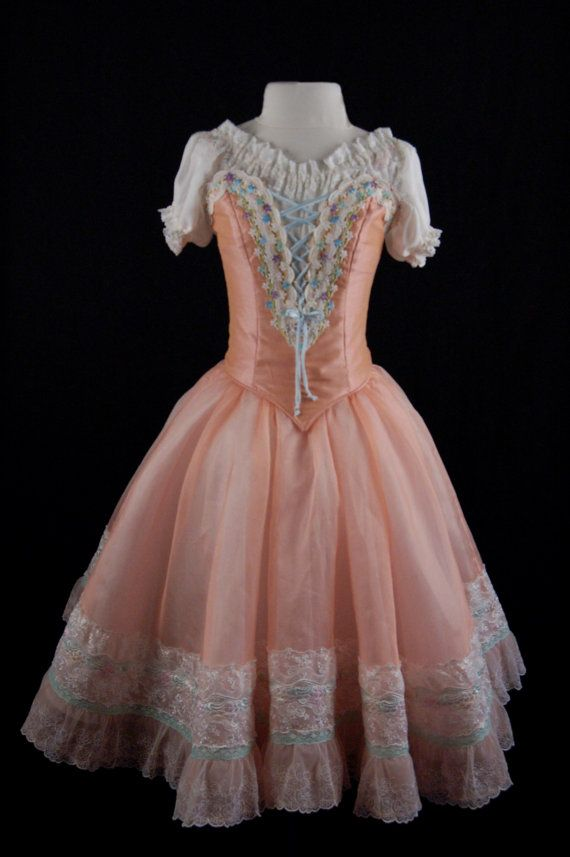 Peach Swanhilda costume for the ballet Coppelia