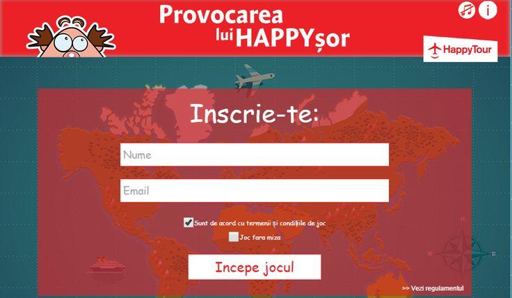 Happysor te provoaca la un concurs de tip Trivia