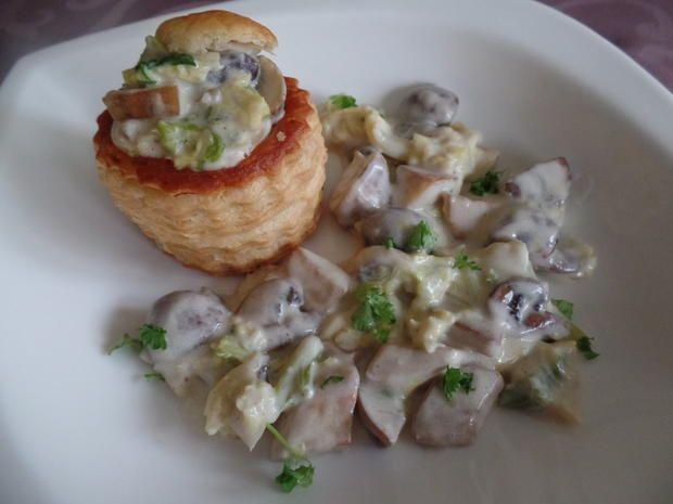 Rezept: Pasteten mit Wirsing-Pilz-Rahm Bild Nr. 2940