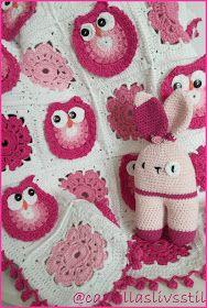 Nu har jag fått virkat en rosa ugglepläd och jag är så himla nöjd. Har virkat en uppsjö av plädar innan både med nallar och ugglor men a...