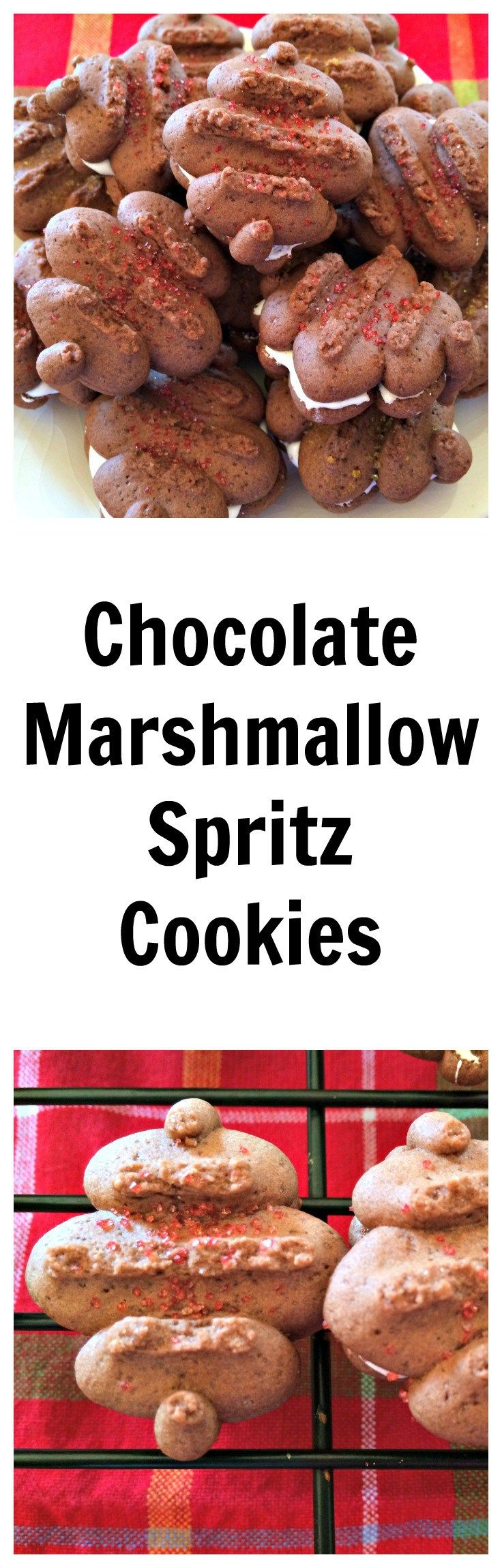 Chocolate Marshmallow Spritz Cookies